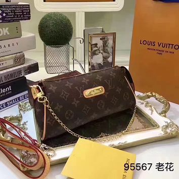 LV Louis Vuitton MONOGRAM LEATHER EVA INCLINED SHOULDER BAG