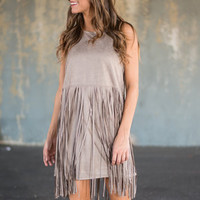Need You Now Dress, Taupe