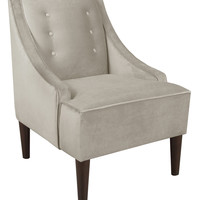 Platinum Collection by SF Designs Swoop Armchair with Buttons