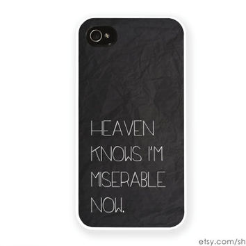 The Smiths iPhone Case / Morrissey iPhone 4 Case iPhone 4s Case iPhone 5 Case iPhone 5s Case Heaven Knows I'm Miserable Now iPhone 5C Case