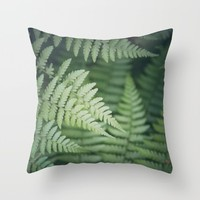 Where the Redwood Tree Fern Grows Throw Pillow by CMcDonald | Society6