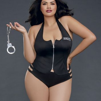 Plus Size Ms. Swat Officer Costume