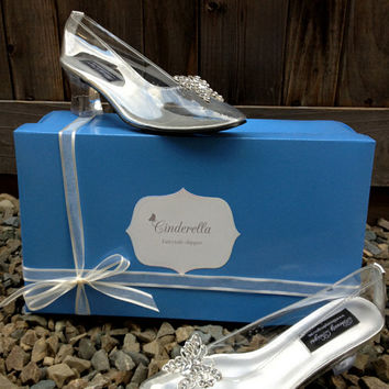 Cinderella Butterfly Fairytale Glass Slippers Style Adult Costume Pair Pumps Heels Shoes Custom Made