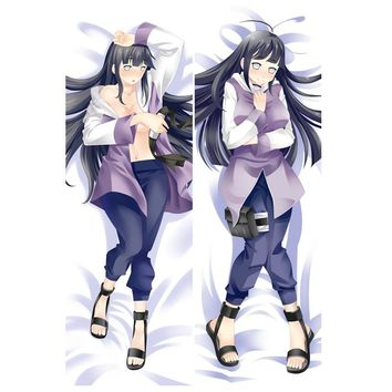 Anime Naruto Decorative Pillow case Itachi Sasuke Hinata travel pillow Cover Sexy Double-sided Bedding Body Hugging pillowcase