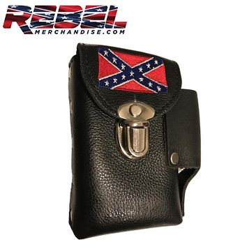 Embroidered Rebel Flag Cigarette Case (cigarette002)