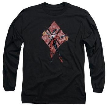 Batman - Harley Quinn (Diamonds) Long Sleeve Adult 18/1