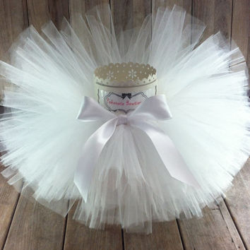 White Tutu, Baby Tutu, Toddler Tutu,Infant Tutu, Christening Tutu, First Birthday Tutu,Newborn Tutu,Cake Smash Tutu,Photo Prop Tutu, Tutu
