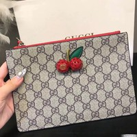 GUCCI GG Cherry Flat Pouch