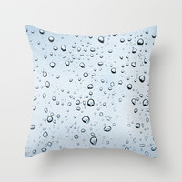 Water Drops Throw Pillow by Christian Solf