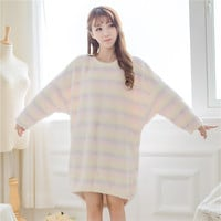 Aurora Ice Cream Velvet Sleeping Dress PA1492