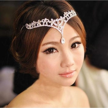 The bride crown headdress frontlet wedding dress accessories = 1930161284