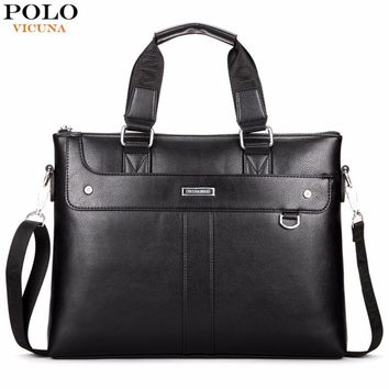 Classic Business Man Briefcase Brand Computer Laptop Shoulder Bag Leather Men's Handbag Messenger Bags Men Bag Hot