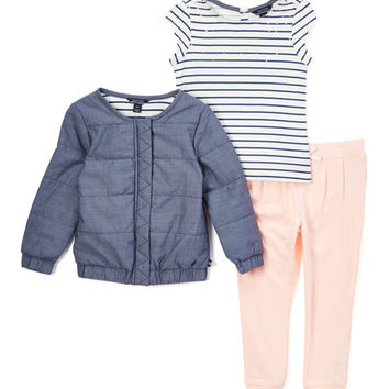 Navy Bomber Jacket Set - Infant & Toddler