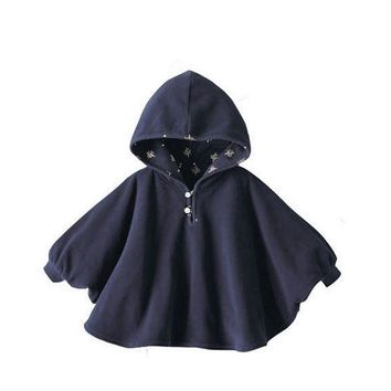 2017 Fashion Baby Boys Girl's Cute Smocks Outwear Fleece Cloak Jumpers Mantle Children's Clothing Poncho Cape Coats
