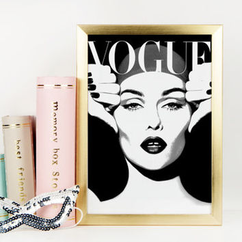 FASHION WALL ART Printable Art Fashion Illustration Vogue Paris Original Vogue Print Vogue Wall Art Vogue Print Fashion Girl Vogue Cover