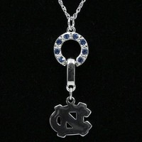 North Carolina Tar Heels (UNC) Ladies MVP Crystal Necklace