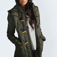 Harriet Quilted Duffle Coat