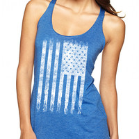 Royal Blue American Flag Tank Top