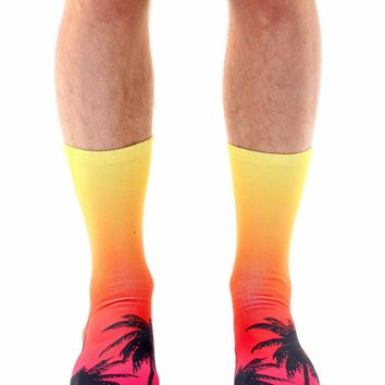 Sunset Crew Socks