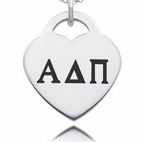 Buy Alpha Delta Pi Sorority Laser Engraved Heart. Free Shipping