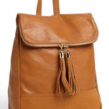 Emperia Faux Leather Backpack (Juniors) | Nordstrom