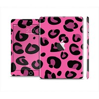 The Pink Vector Cheetah Print Full Body Skin Set for the Apple iPad Mini 2