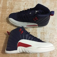 Air Jordan 12 Retro Navy/White/Red