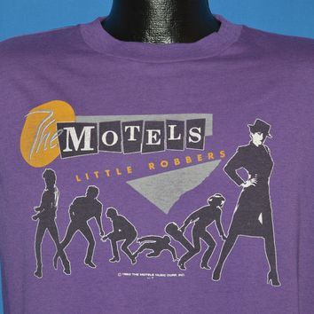 80s The Motels Little Robbers World Tour 83 Sleeveless t-shirt Large