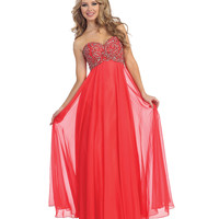 Strawberry Strapless Sweetheart Beaded Corset Gown 2015 Prom Dresses