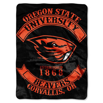 Oregon State Beavers NCAA Royal Plush Raschel Blanket (Rebel Series) (60x80)