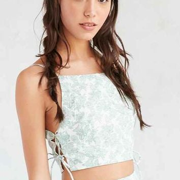 Tie-Side Cropped Top
