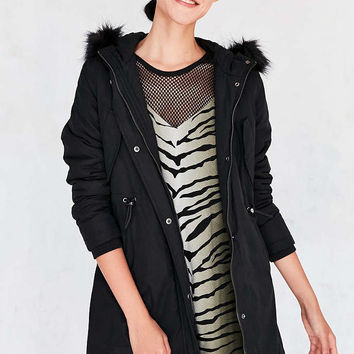 Pins And Needles Whistler Faux Fur Trim Parka - Urban Outfitters