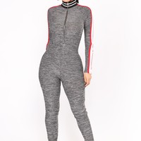 Team Uniform Jumpsuit - Charcoal