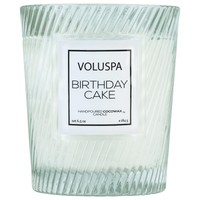 VOLUSPA BIRTHDAY CAKE CLASSIC TEXTURED GLASS CANDLE