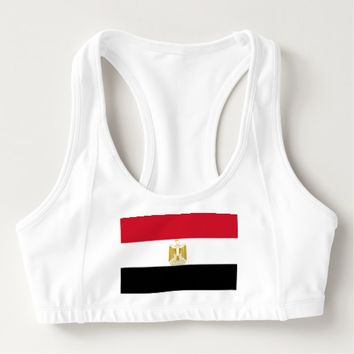 Women's Alo Sports Bra with flag of Egypt