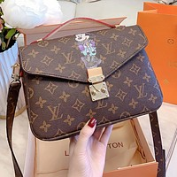 LV Louis Vuitton x Disney High Quality Women Shopping Bag Mickey Mouse Print Leather Handbag Tote Shoulder Bag Crossbody Satchel