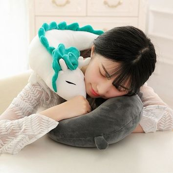 Anime Miyazaki Hayao Spirited Away Plush Toy Pillow Neck U-Shape