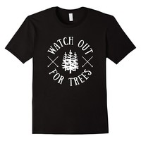 Watch Out For Trees Funny Skiing T-Shirt