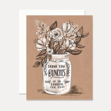 Thank You Bunches - A2 Note Card