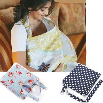 Baby Mum Breastfeeding Nursing Cover Up Udder Covers Cotton Blanket Shawl = 1930510148