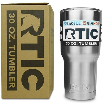 RTIC 30 oz. Tumbler Stainless Steel Cup Double Vacuum Insulated Hot Cold Arctic