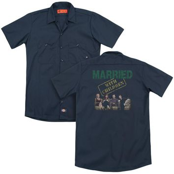 Married With Children - Vintage Bundys (Back Print) Adult Work Shirt