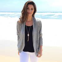 Cornerstone Knit Cardigan In Grey