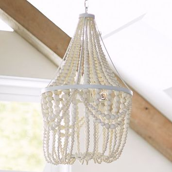 Lennon & Maisy Beaded Wood Chandelier