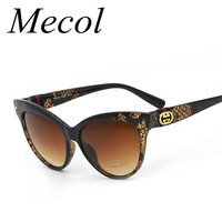 Mecol Fashion Cat Eye vintage Sunglasses Women Brand Design Sun Glasses for Women Retro Oculos De Sol Feminino Zonnebrillen M101