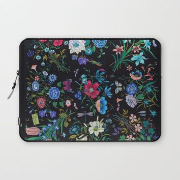 WILD FLOWERS Laptop Sleeve by Salome