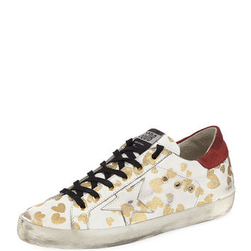 Golden Goose Superstar Hearts Lace-Up Sneaker