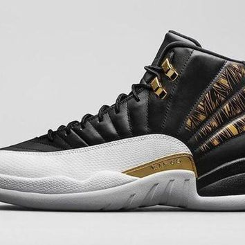 DCK7YE Air Jordan Retro 12 Wings Men Basketball Shoes 12s Wings Discolor Gold 12s Master Spor