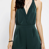 Sparkle & Fade Silky Halter Romper - Urban Outfitters