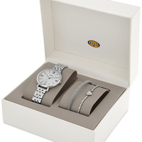 Fossil Women's Jacqueline Stainless Steel Bracelet Watch Set 36mm ES3698
